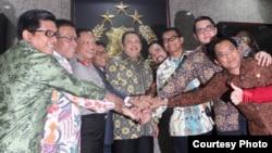 Panitia Khusus Hak Angket KPK hari Rabu (12/7) mendatangi Markas Besar Kepolisian Republik Indonesia untuk meminta jaminan keamanan kepada Kepala Kepolisian Republik Indonesia jenderal Tito Karnavian. (Foto: Courtesy)