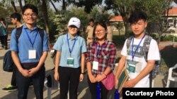 Nyima Tenzin, Tenzin Tselha and Tsering Dhondup are the student participants