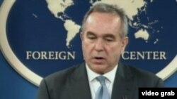 美国国务院东亚助卿坎贝尔(美国之音视频截图)