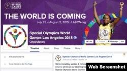 ទំព័រ Facebook របស់គណៈកម្មធិការកីឡាអូឡាំពិកពិសេស Special Olympic ធ្វើនៅទីក្រុង Los Angles ស.រ.អា.ឆ្នាំ២០១៥