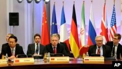 Phiên họp trong vòng đàm phán cao cấp lần thứ tư giữa các cường quốc thế giới và Iran về vấn đề hạt nhân của nước này, ngày 26/2/13.
