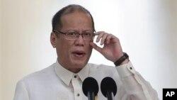 Tổng thống Philippines Benigno Aquino phát biểu nhân ngày lễ Quốc khánh thứ 115 của Philippines tại Manila, ngày 12 tháng 6, 2013. (AP/ Aaron Favila)