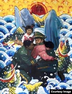 채하나 작가의 작품 '북한으로부터의 탈출'