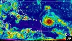 미국 국립해양대기국(NOAA)가 4일 공개한 허리케인 '어마'의 위성사진.