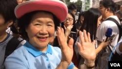 香港前政务司司长陈方安生加入七一游行