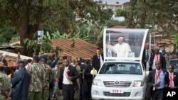 教宗方济各在肯尼亚