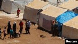Le camp de déplacés de Bab Al-Nour, au nord d'Alep, Syrie, le 18 mai 2014