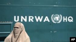 Umukenyezi w'Umunyepalestina yari yaje gushigikira bagenzi we basaba ko igisata UNRWA gihabwa imfashanyo zo kubafasha.