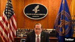 美國衛生部長阿扎爾2020年4月27日與台灣衛生福利部部長陳時中通電後談論新冠肺炎疫情(阿扎爾推特帳號)