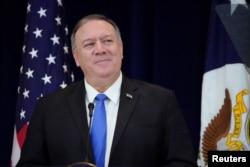 美国国务卿蓬佩奥(2019年12月19日 资料照片)