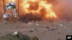 Hiện trường vụ đánh bom xe ở Baghdad, Iraq, 25/4/2014.