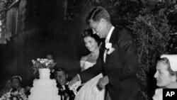 مراسم عروسی جان اف کندی و همسرش ژاکلین کندی
