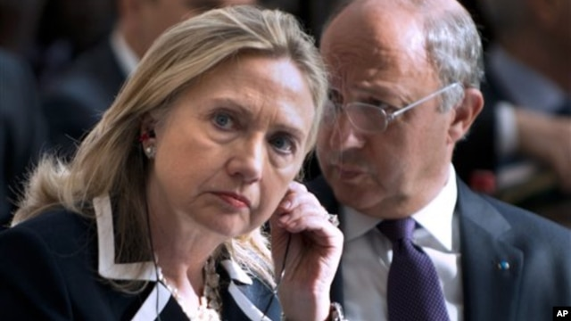 US Secretary of State Hillary Rodham Clinton at Paris talks on Syria Jun 6, 2012