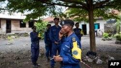 Des policiers à Goma, Nord-Kivu, DRC, 29 décembre 2018.