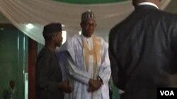 Muhammadu Buhari yana jawabi a karon farko bayan an zabeshi shugaban kasa