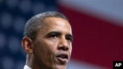 22일 올란도에서 열린 컨퍼런스에서 건강보험개혁법에 관해 발언하는 바락 오바마 대통령.