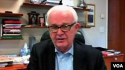 2일 VOA와 인터넷 영상통화로 단독 인터뷰를 가진 스티븐 보즈워스 전 미 국무부 대북정책 특별대표.