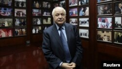 Dr. Talal Abu-Ghazaleh, Chairman and CEO of Talal Abu-Ghazaleh Overseas Corporation (TAGOCorp), at his office in Amman, March 19, 2012.