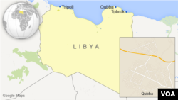 Map of Qubba, Libya