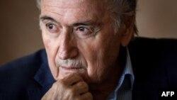 L'ancien président de la Fifa, Sepp Blatter, lors d'une conférence de presse à Zurich, en Suisse, le 8 mars 2018.