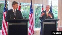 Američki šef diplomatije Reks Tilerson i premijer Novog Zelanda Bil Ingliš u Velingtonu, 6. jun 2017.