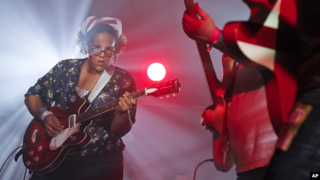 The Alabama Shakes, with Brittany Howard, perform during the SXSW Music Festival in Austin, Texas, March 15, 2012.