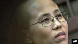 In this 28 Sep 2010 file photo, Liu Xia, wife of Chinese dissident Liu Xiaobo, speaks about a December night nearly two years ago when her husband was taken away by the police from their apartment during an interview with The Associated Press in Beijing,