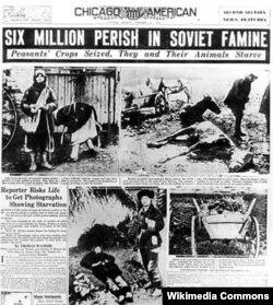 Stalinin kütləvi repressiyalarla müşayiət olunan kolxozlaşdırma kampaniyası kənd təsərrüfatını viran qoyaraq Ukrayna və Qafqazda milyonlarla adamın acından ölməsinə səbəb oldu.