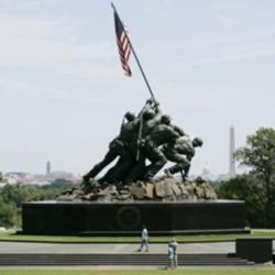 The Marine Corps War Memorial in Arlington, Virginia