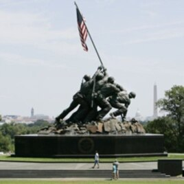 The Marine Corps War Memorial in Arlington, Virginia