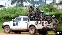 Beberapa anggota pasukan penjaga perdamaian PBB di Republik Demokratik Kongo (foto: dok).