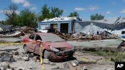 Mesto Kuapa u Oklahomi posle tornada, 28. aprila 2014.