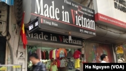 Vietnam hopes that as more of its domestic businesses go global, they will bolster the country's brand. (VOA/Ha Nguyen).