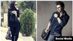 تصاویری از دو مدل ایرانی که از کشور خارج شده و اکنون ساکن دوبی هستند