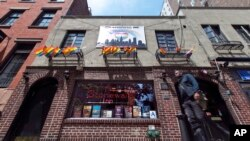 FILE - The Stonewall Inn, in New York's Greenwich Village, has been designated as a national park and the first U.S. national monument to gay rights.