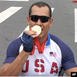 Oscar 'Oz' Sanchez, a US Marine veteran who served in Iraq and Afghanistan, is the current Paralympics gold medalist.