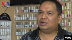 Kong Chansokun has been running the nail salon business for nine years and has employed 15 staff.