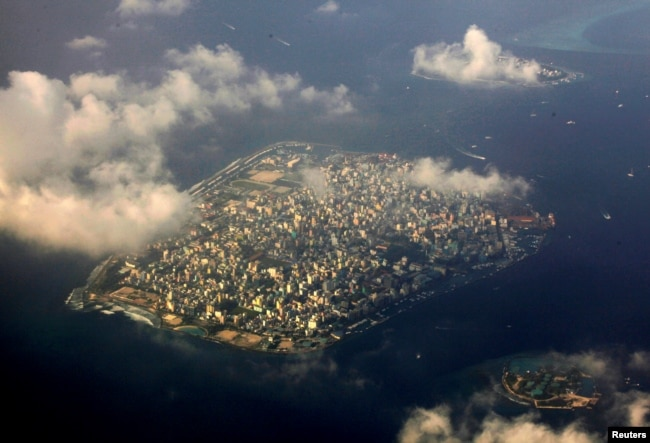 鳥瞰馬爾代夫首都