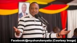 Le président sortant kényan Uhuru Kenyatta lors d'un meeting avec ses partisans au lendemain de l'invalidation des résultats de la présidentielle par la cour suprême à Nairobi, Kenya, 2 septembre 2017. (Facebook/@myuhurukenyatta)