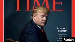 "Time magazine named U.S. President-elect Donald Trump its ""Person of the Year."""