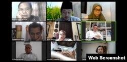 Diskusi daring tentang COVID-19 dan Peran Agamawan di Indonesia, Jumat 22 Mei 2020. (Tangkapan layar).