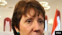 Kepala Kebijakan Luar Negeri Uni Eropa Catherin Ashton. Uni Eropa akan menyetujui sanksi-sanksi baru bagi Libya, Jumat.