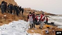 Các di dân thiệt mạng trên biển ở Libya.