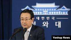 한국의 주철기 청와대 외교안보수석비서관 (자료사진)