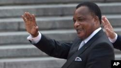 Le président Denis Sassou Nguesso, Beijing, Chine, 5 juillet 2016.