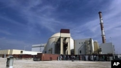 The reactor building of the Bushehr nuclear power plant is seen, just outside the southern city of Bushehr, Iran, 26 Oct 2010