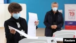 Jedno od glasačkih mjesta u Moskvi, Rusija.
