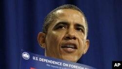 Tổng thống Obama trình bày về chính sách năng lượng của ông hôm 1/3/12, tại Nashua, New Hampshire