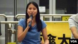 中學通識科教師潘詠詩表示,近年香港學生對紀念六四比較冷淡。(美國之音湯惠芸)