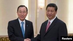 聯合國秘書長潘基文星期三在北京會晤了中國國家主席習近平